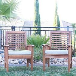 Patio Furniture Sets Of 2 Dining Chairs Outdoor Garden Woode