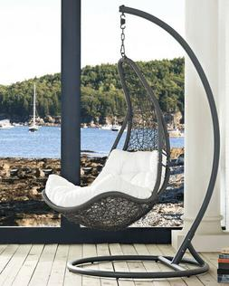Modway Abate Wicker Rattan Outdoor Patio Porch Lounge Swing