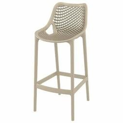 Compamia Air Patio Bar Stool in Taupe
