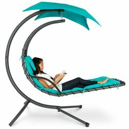 Best Choice Products Outdoor Hanging Curved Chaise Lounge Ch