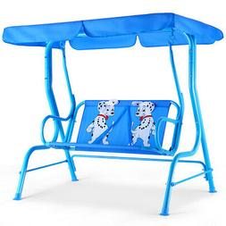 Blue Kids Patio Swing With Canopy Dalmatians *** WAS $135 NO