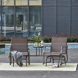 Double Patio Glider With Tea Table, Ergonomically Designed,