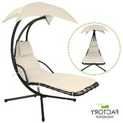 Hanging Chaise Lounger Chair Arc Stand Swing Hammock Chair A