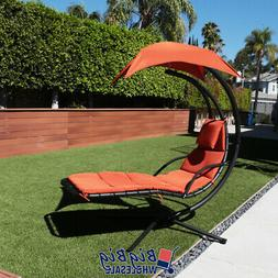 Hammock Hanging Chair Lounge Chaise Outdoor Patio Canopy Sun