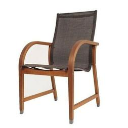 International Home Amazonia 4 Piece Patio Dining Chair in Br