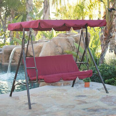 3 person patio swing canopy awning hammock