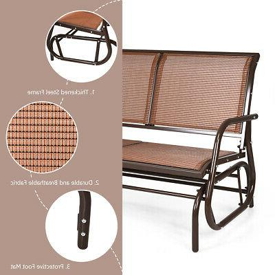 """48"""" Outdoor Patio Glider Chair Lounge"""