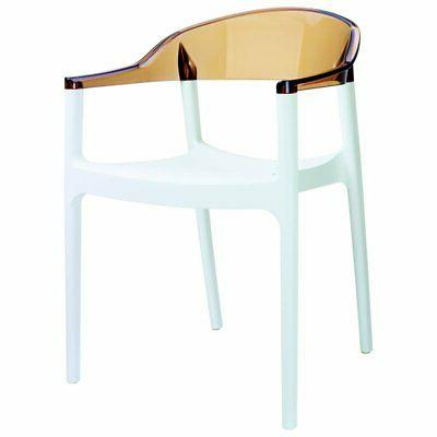 carmen patio dining chair with white seat