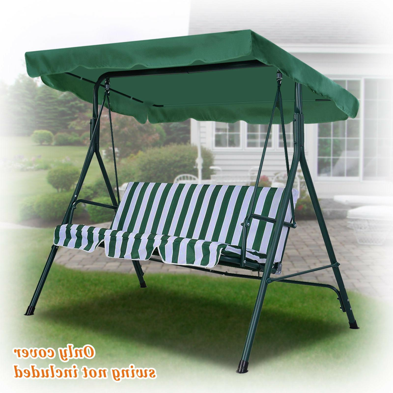 new patio outdoor 77 x43 swing canopy