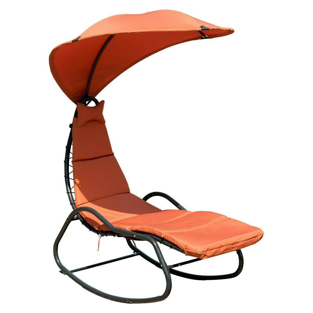 patio hanging swing chaise lounge chair