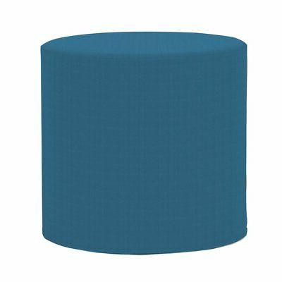 seascape turquoise no tip cylinder ottoman