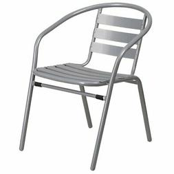 Flash Furniture Metal Restaurant Stack Chair with Aluminum S