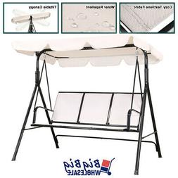 Outdoor Patio Porch Swing Chair Canopy Lounge 3-Person Seat