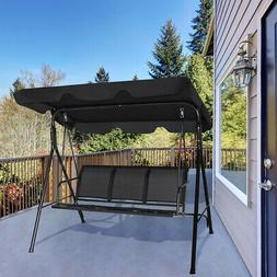 Outdoor Patio Swing Canopy 3 Person Canopy Swing Chair Patio