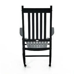 Outsunny Outdoor Porch or Patio Wooden Rocking Chair Black