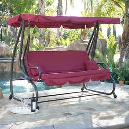 Outdoor Swing / Bed Patio Adjustable Canopy Deck Porch Seat