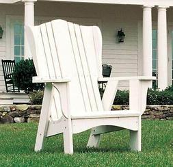 Outdoor Wood Patio Chair in Plumage