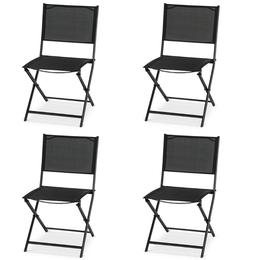 Patio Chairs Clearance Set Of 4 Folding Garden Outdoors Furn
