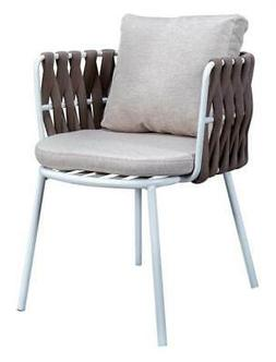 Patio Dining Chair with Cushions in Brown