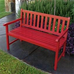 Gatepost Bench 4 Foot Bench with Antiqued Paint Finish