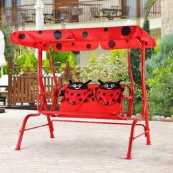 Patio Swing Chair Kids /Children Porch Bench Canopy 2 Person