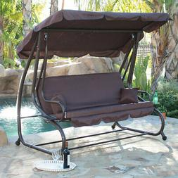 Porch Swing Bed Cushioned Adjustable UV Resistant Sunlight P