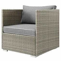 Modway Repose Patio Arm Chair in Gray