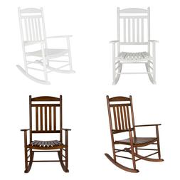 ROCKING CHAIR Garden Porch Rocker Solid Wood Multiple Colors