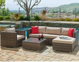 suncrown outdoor patio furniture sectional sofa