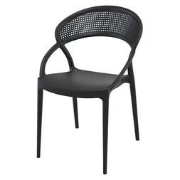 Compamia Sunset Patio Dining Chair in Black