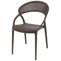 Compamia Sunset Patio Dining Chair in Brown