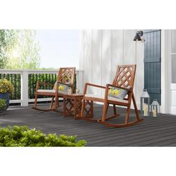 Willow Glen Farmhouse Wood Outdoor Patio Rocking Chair with